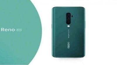Oppo Reno branded smartphone