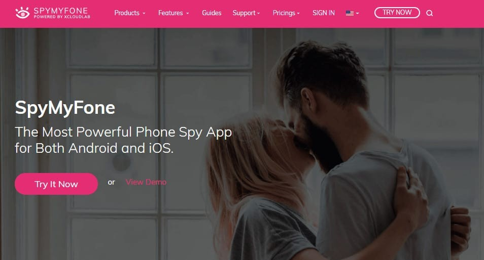SpyMyFone Homescreen