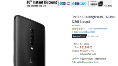 Amazon Summer sale offers discount on OnePlus 6T
