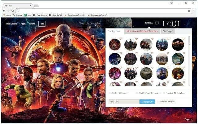 Avengers Infinity War Wallpapers HD New Tab Theme