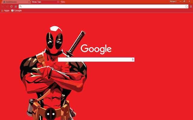 Deadpool Full Screen Google Chrome Theme