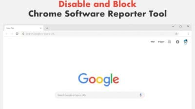 Disable Chrome Software Reporter Tool in Windows