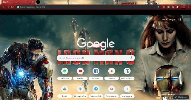 Iron Man 3 Chrome Theme