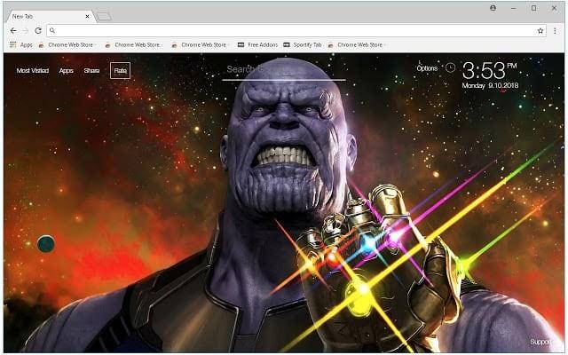 Marvel Thanos Chrome Theme
