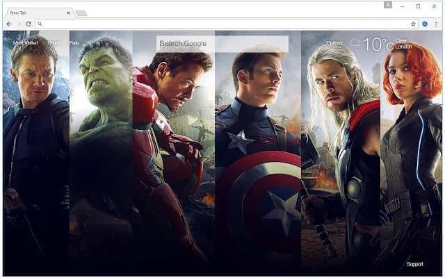 The Avengers HD Wallpaper Theme for Google Chrome