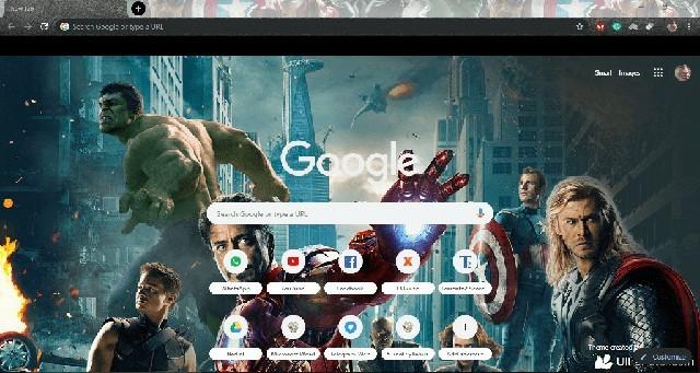 The Avengers Google Chrome theme by Peter Noordijk