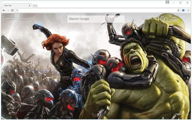 Marvel Avenger Hulk Chrome Theme