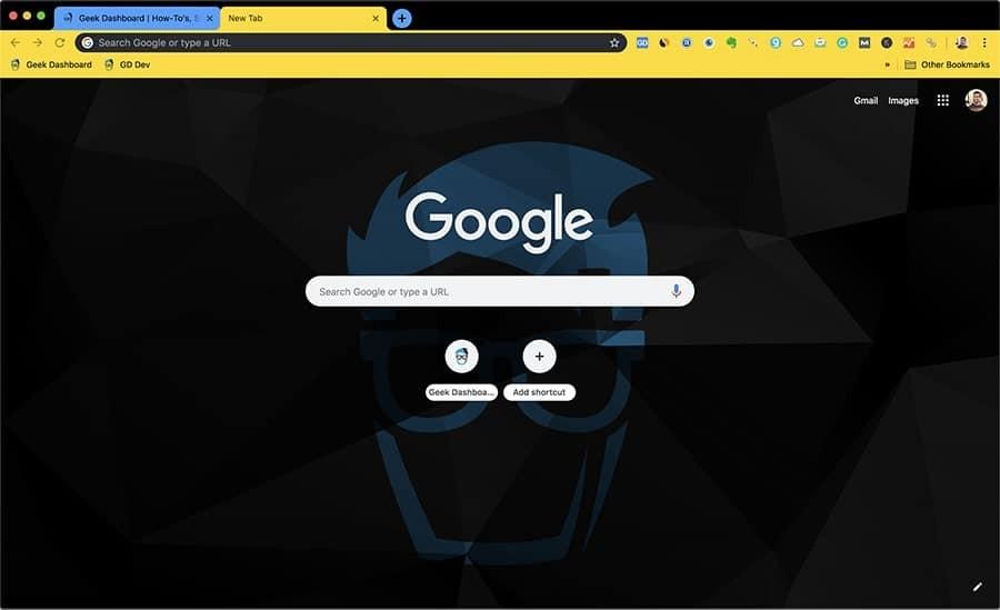 Customised Chrome Background