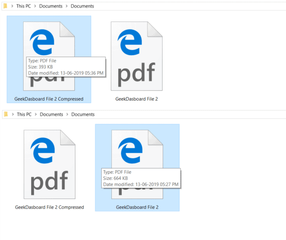 Reducing PDF File Size Manually