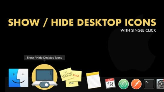 Show and Hide Mac Desktop Icons