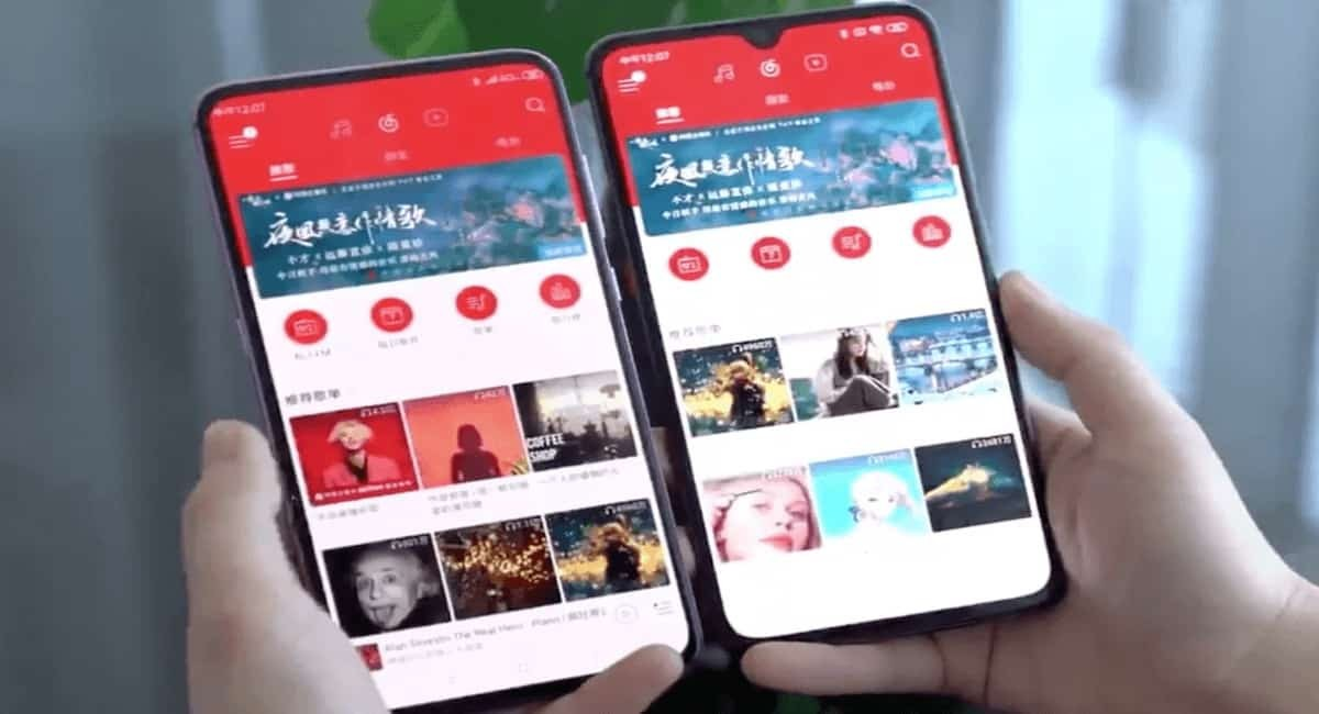 Xiaomi under-display camera phone compared to normal smartphone with notch