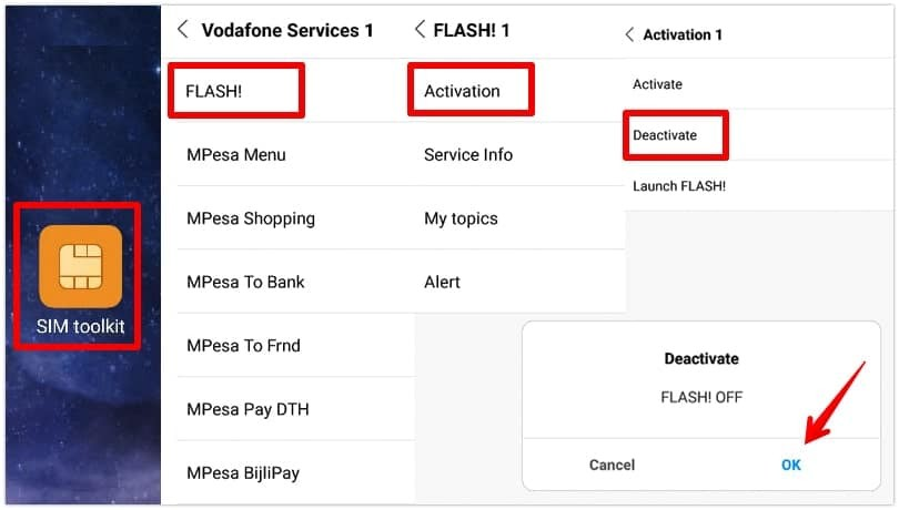 steps to disable flash messages in Android