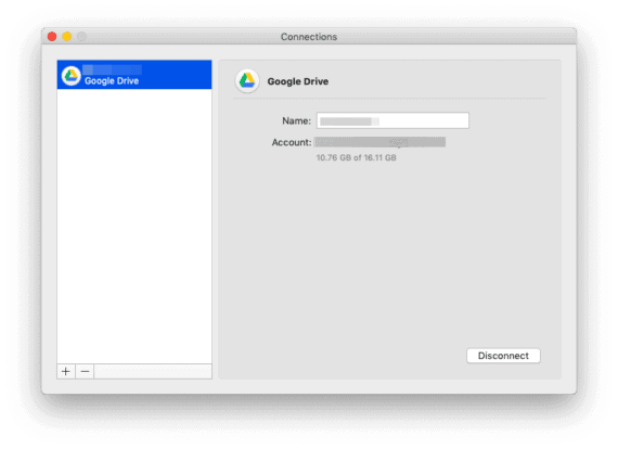 Google Drive connection is now added