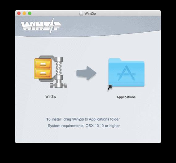 WinZip for Mac Installation Process