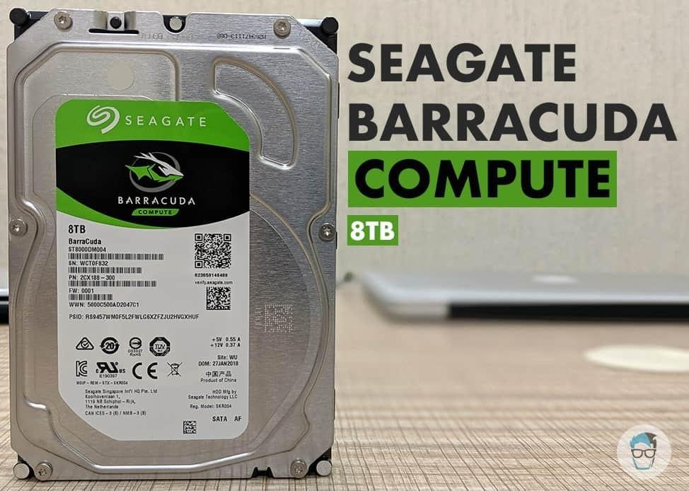 """Seagate 8TB Internal Hard Drive 3.5/"""" SATA 6GB//s 256MB ST8000DM004"""
