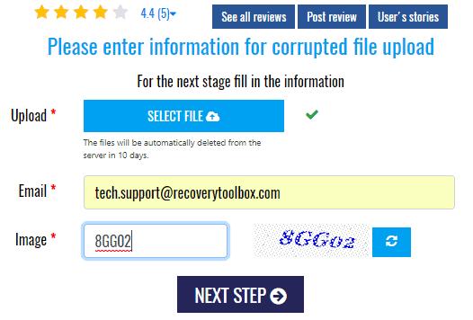 Excel file repair online