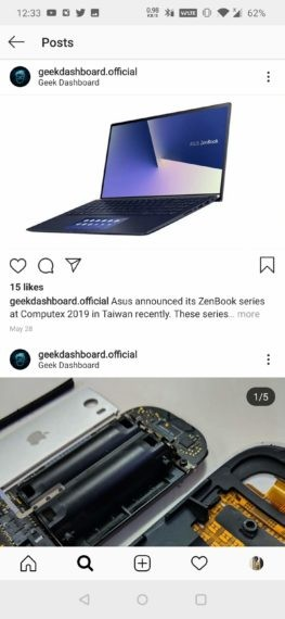 Post on the Instagram to be Reposted (Android)