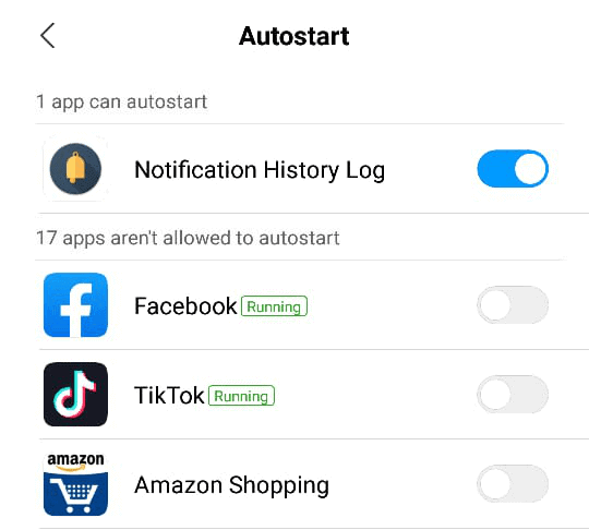 Enable Autostart in Xiaomi Smartphones