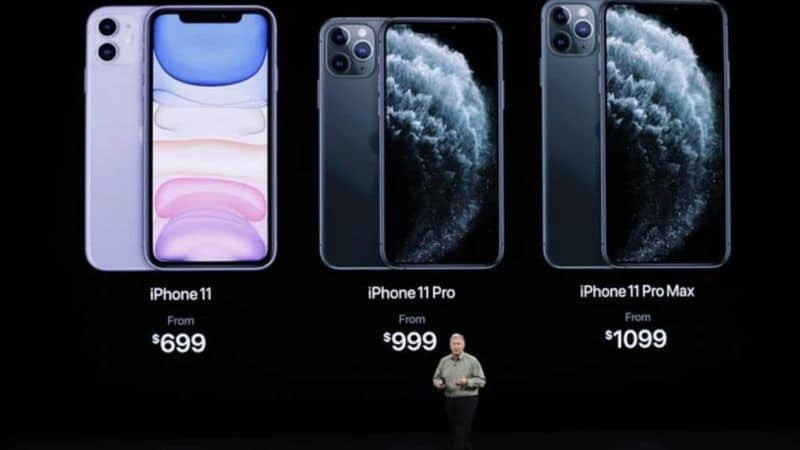 iPhone 11 lineup pricing