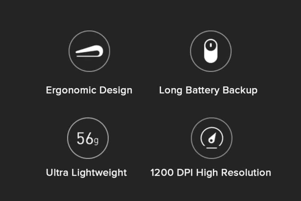 Mi Portable Wireless Mouse Specifications