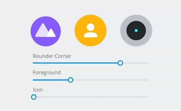 Realme UI icon customization setting