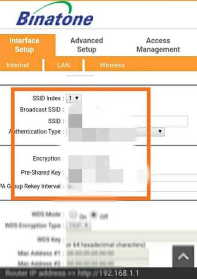 Find WiFi password beside Pre-Shared Key field