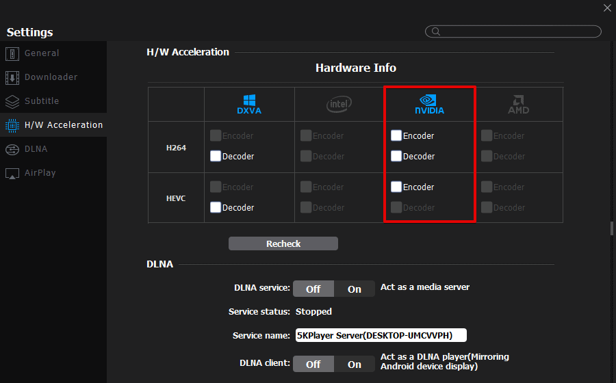 Enhance your video playback with hardware acceleration feature in 5KPlayer