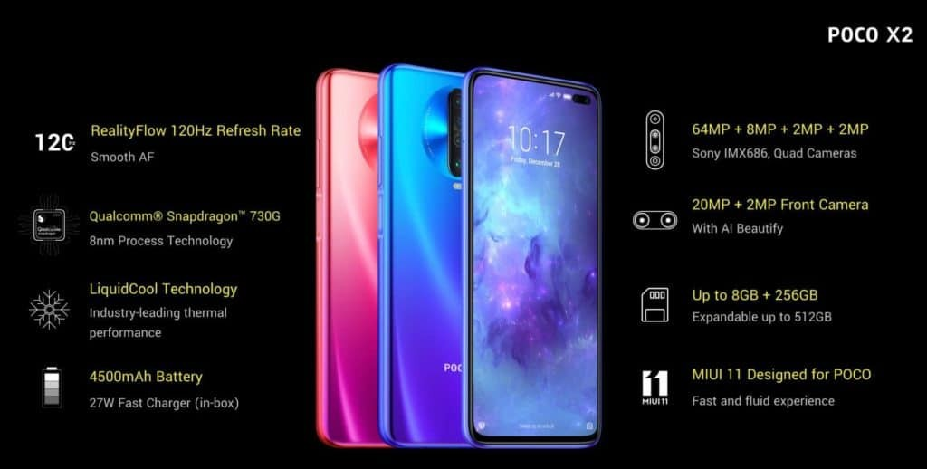 Poco X2 Specifications]