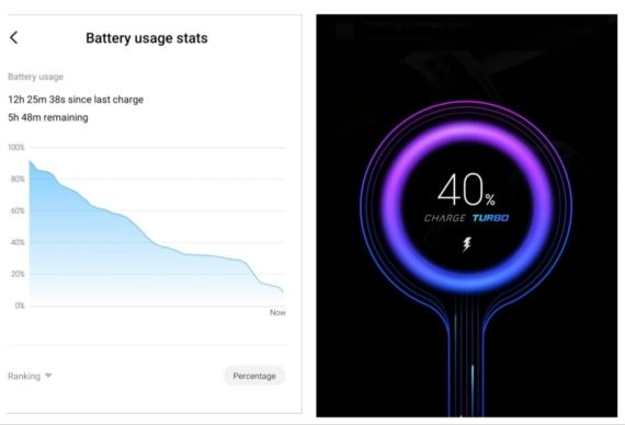 Poco X2 battery usage and fast charging