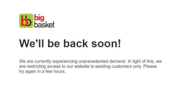 Big basket is accepting new users