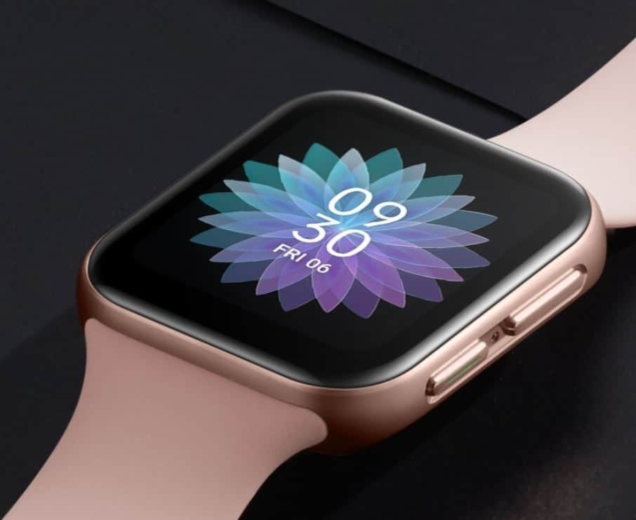 Oppo Watch curved display