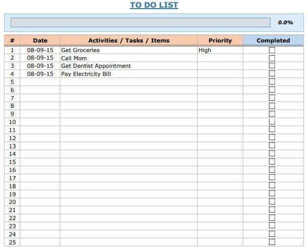 Productivity KPI Dashboard Excel Templates