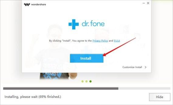 Install dr.fone - WhatsApp Transfer