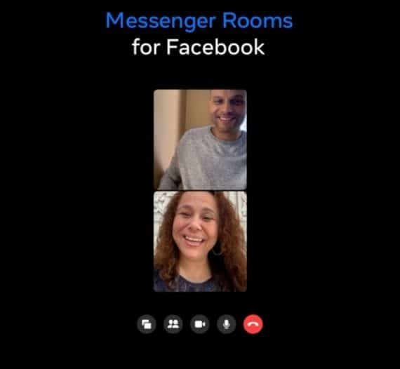 Messenger rooms video call