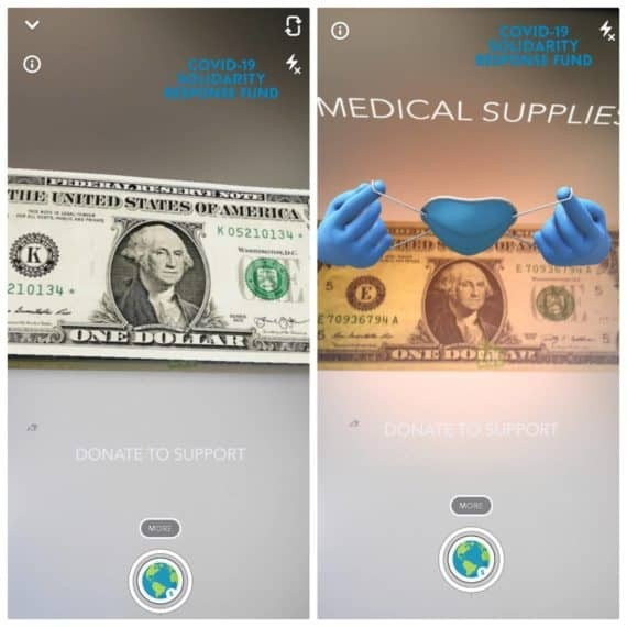 Snapchat Currency scanning lens
