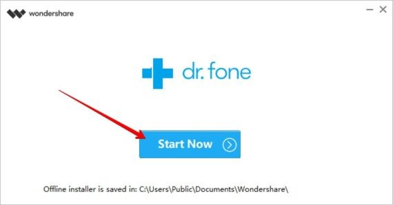 Start dr.fone - WhatsApp Transfer