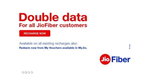 Jio FIber (Double Data offer)
