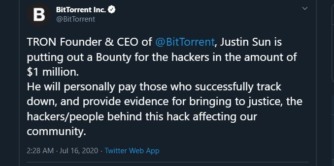 BitTorrent tweet