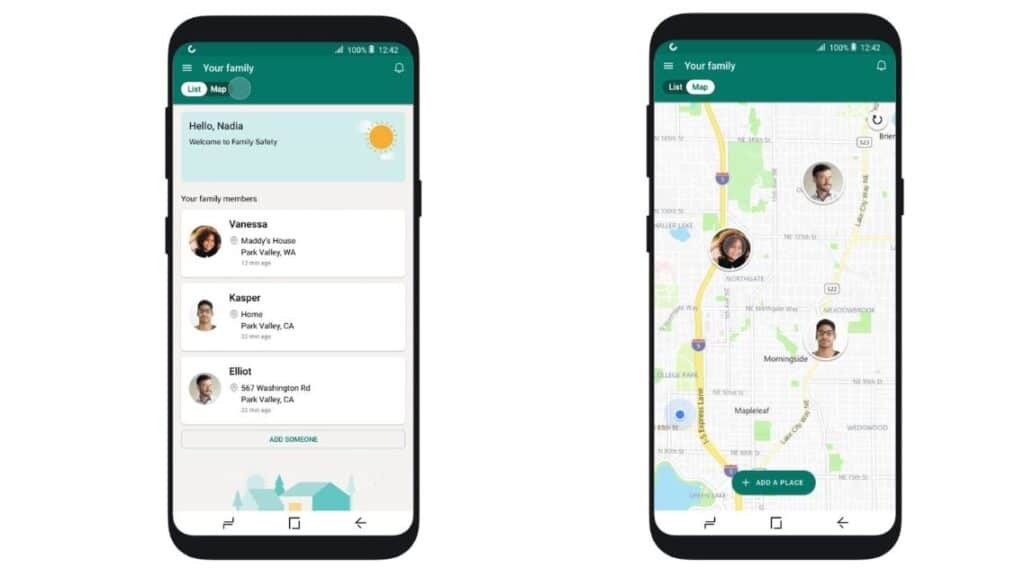 Microsoft Safety App Location Feature