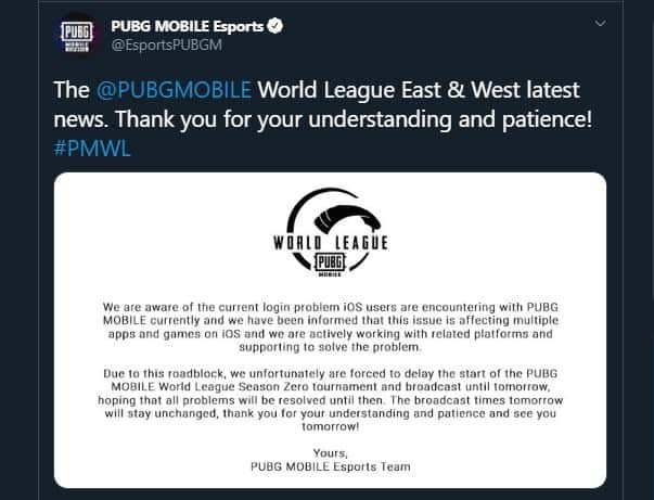 PubG Mobile statement