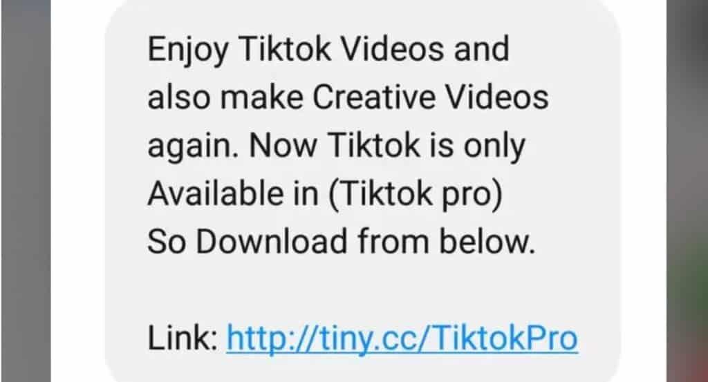 TiKTok Forwarded Message