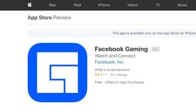 Facebook gaming app