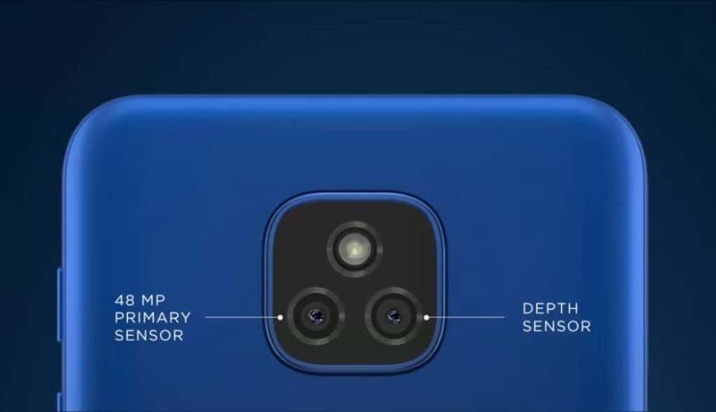 Moto E7 Plus rear camera