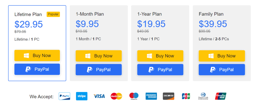 iTubeGo Pricing