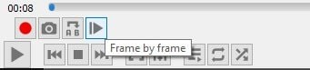 Frame by Frame button in VLC Media Player