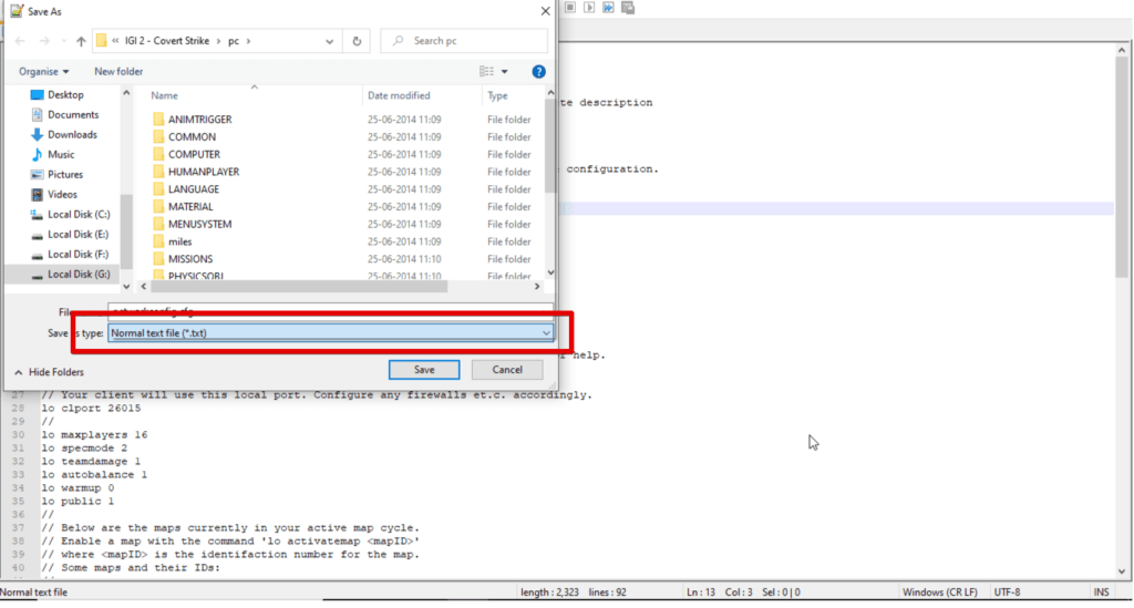 Save as option in Notepad ++