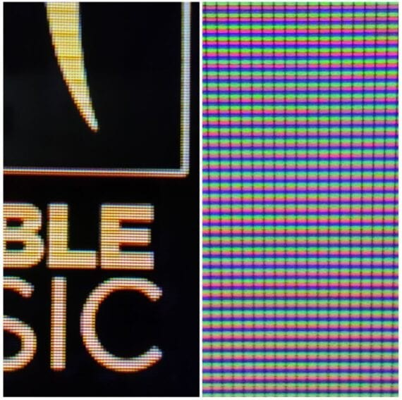 Moto ZX2 visible Pixels