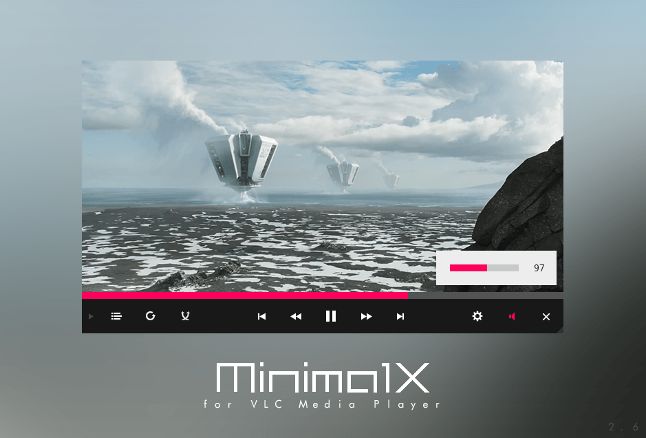 Minimal X VLC Skin - Best VLC Skins for VLC Media Player