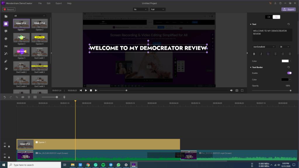 Wondershare DemoCreator Video Editor