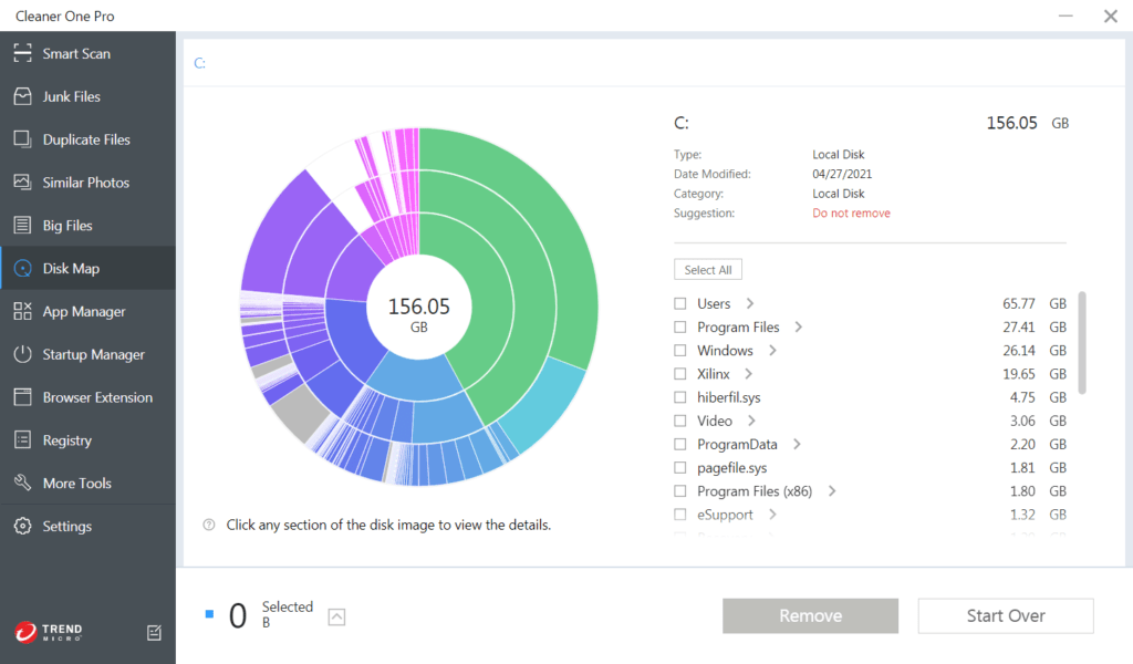 Cleaner One Pro: Disk Map